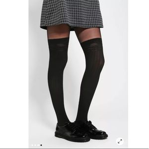 Urban Outfitters Ribbed Faux Thigh-High Tight, M/L